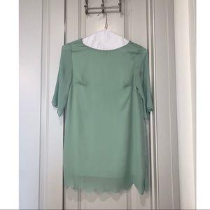 Mint long sleeve dress